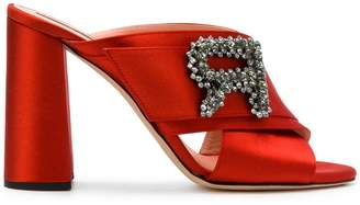 Rochas embellished mule sandals