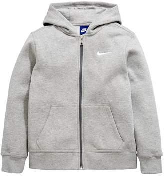 Nike Sportswear Older Boys Full Zip Hoodie - Grey