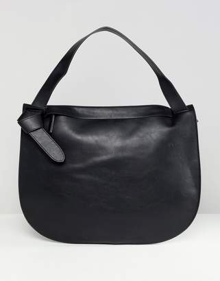 French Connection Reva clean minimalism dumpling handbag