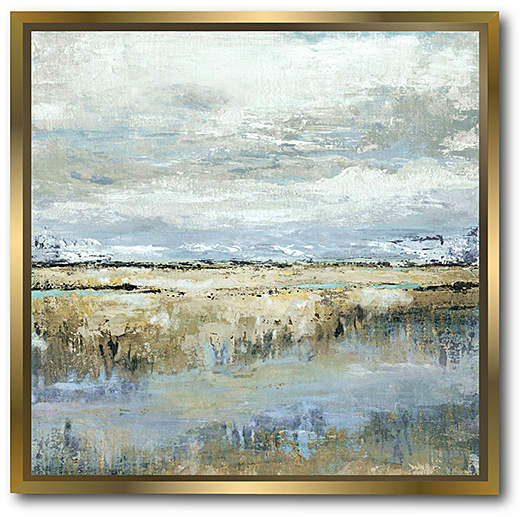 Coastal Marsh Framed Canvas