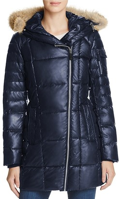 Marc New York Lexi Fur Trim Puffer Coat $335 thestylecure.com