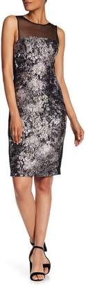 Vera Wang Printed Sleeveless Cocktail Dress
