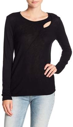 Michael Stars Dolman Cutout Crew Neck Long Sleeve Tee