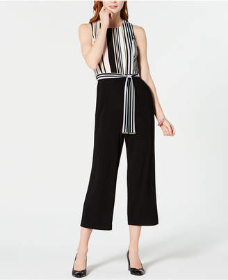 Tommy Hilfiger Striped-Top Cropped Jumpsuit