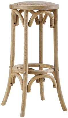 Linon Rae Backless Wood Bar Stool