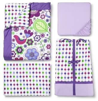 Bacati Crib Bedding Set - 10pc - Purple Botanicals