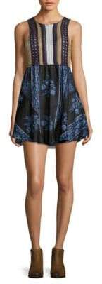 Free People Contrast Patterned Dress