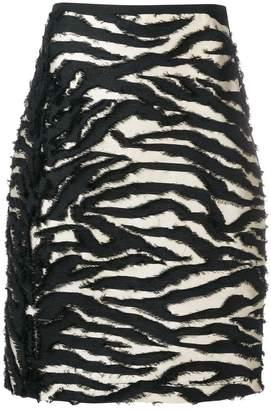 Odeeh fil coupé zebra skirt