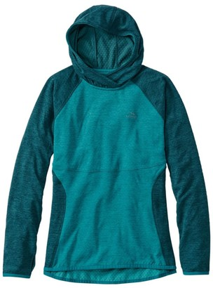 L.L. Bean L.L.Bean Women's Adventure Grid Fleece Pullover Hoodie, Color Block