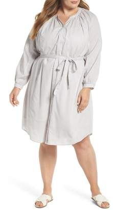 Lucky Brand Stripe Peasant Dress