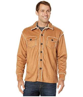 True Grit Vintage Washed Sherpa Two-Pocket Button Jacket