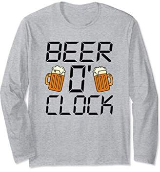 Beer O'Clock Funny Alcohol Long Sleeve