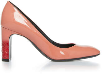 Bottega Veneta Patent Block Heel Leather Pumps