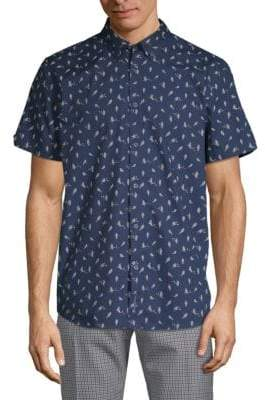 Ben Sherman Bird-Print Cotton Button-Down Shirt