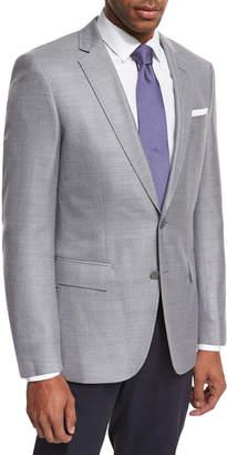 BOSS Mini-Check Wool Sport Coat, Gray
