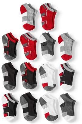 Athletic Works Half Cushion No Show Socks, 12 + 2 Bonus Pack (Little Boys & Big Boys)