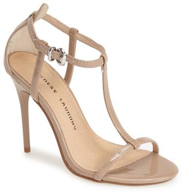 Chinese Laundry &Leo& Patent T-Strap Sandal