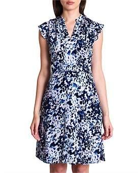 Marcs Women Animal Blur Viscose Dress