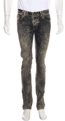 Just Cavalli Faded Five-Pocket Skinny Jeans