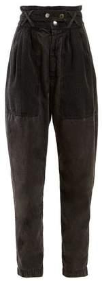 Isabel Marant Turner High Rise Denim Trousers - Womens - Black