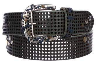 Maison Margiela Studded Perforated Leather Belt