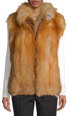 Made for Generation Red Fox Fur Premium Zip Vest