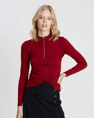 Karen Millen Cross-Over Hem T-Shirt