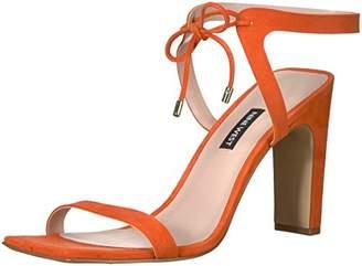 70aa9521201 Nine West Women s LONGITANO Suede Heeled Sandal Orange