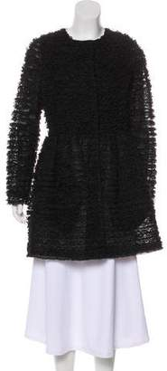 RED Valentino Lace Ruffled Coat