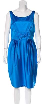 Carmen Marc Valvo Sleeveless Midi Dress