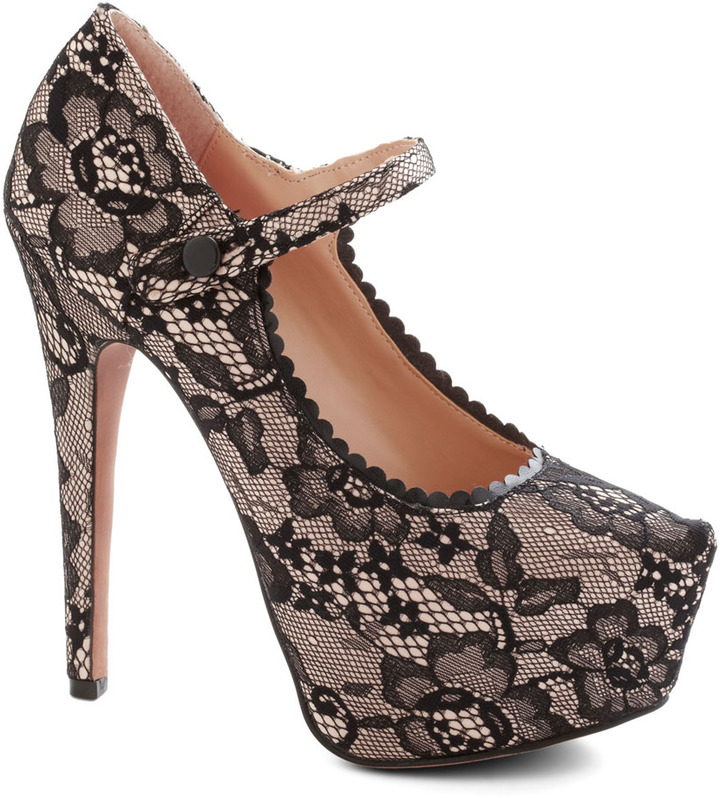 Betsey Johnson Lace to be Seen Heel