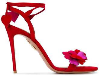 Aquazzura Happy Hearts 105 Suede sandals