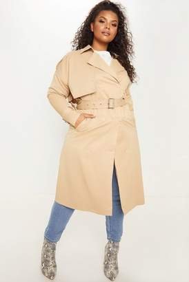 Next Womens PrettyLittleThing Plus Classic Trench Coat