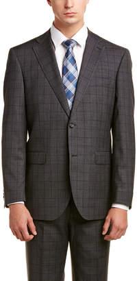 Zanetti Napoli Modern Fit Wool Suit With Flat Pant