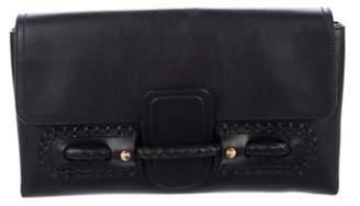Alexander McQueen Oversize Leather Clutch Black Oversize Leather Clutch