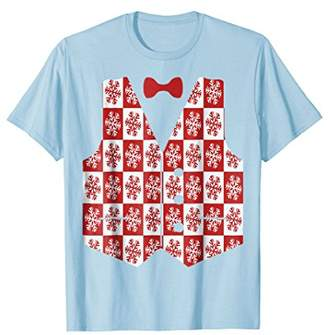 Snowflake Vest With Bow-tie T-Shirt Tacky Ugly Christmas