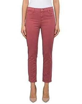 J Brand Ruby High Rise Crop Straight Leg- Coloured Twill