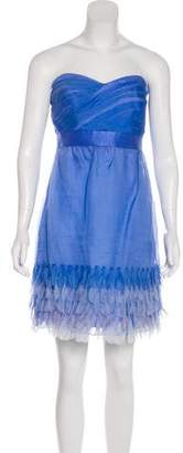 Phoebe Couture Strapless Silk Dress w/ Tags