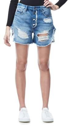 Good American High Waist Denim Boyfriend Shorts