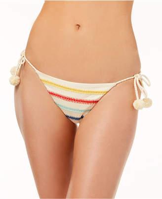 Dolce Vita Embroidered Side-Tie Cheeky Bikini Bottoms Women's Swimsuit