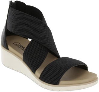 593495cda48 Mia Amore Criss-Cross Elastic Wedge Sandals - Casandraa