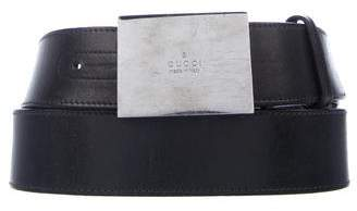 Gucci Leather Logo Belt