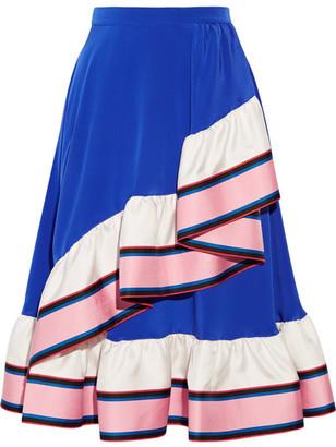 Emilio Pucci - Ruffled Silk Skirt - Blue $2,660 thestylecure.com
