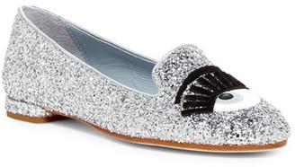 Chiara Ferragni Flirting Glitter Flat $310 thestylecure.com