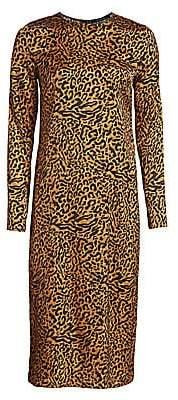 Andamane Women's Beulah Leopard-Print Midi Dress