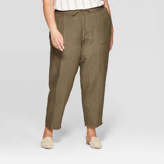 Ava & Viv Women's Plus Size Linen Pants