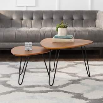 e91813031b Mid-Century MODERN Manor Park Coffee Table Set - Walnut