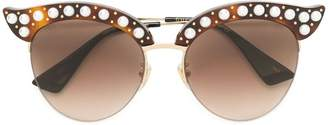 Gucci pearl embellished sunglasses