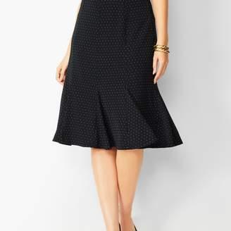 Talbots Pleated Dot Midi Skirt