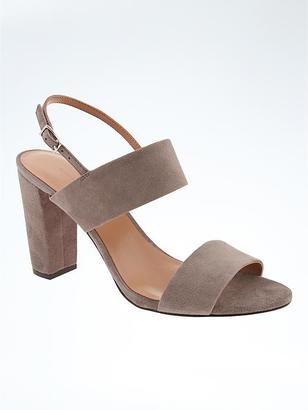 Double Strap Block Heel Sandal $128 thestylecure.com